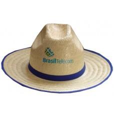 Chapéu em palha com copa  baixa
